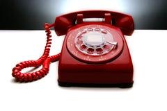 Téléphone rouge 2 de cru Images stock