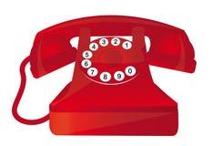 Téléphone rouge illustration libre de droits