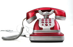 Téléphone rouge 3 Photos libres de droits