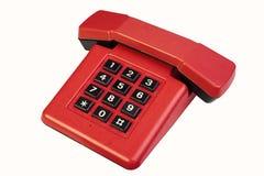 Téléphone rouge de cru photographie stock libre de droits