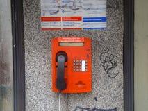 Téléphone russe public Image libre de droits