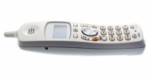 Téléphone sans fil blanc Image libre de droits