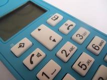 Téléphone sans fil bleu Photos libres de droits