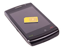 Téléphone simplement intelligent image stock