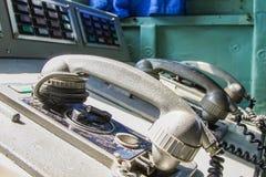 Téléphone sur le bateau Photo stock