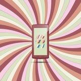 Téléphone sur le papier coloré 2 Photo libre de droits