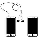 Téléphone sur un fond blanc Image stock