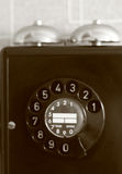 Téléphone violet-vert lumineux Photographie stock
