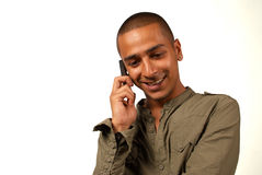 Téléphoner du Moyen-Orient d'homme Photos stock