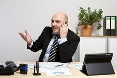 Téléphoner l'homme d'affaires photo stock