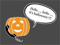 Téléphoner le potiron de Halloween Photo libre de droits