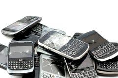 Téléphones cassés Photographie stock libre de droits