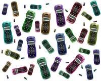 Téléphones colorés Photos stock