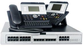 téléphones de commutateur de téléphone Image stock