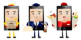 Téléphones de la livraison Image stock