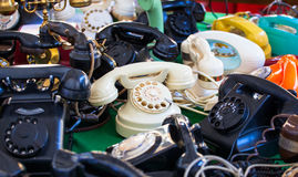 Téléphones de vintage Photographie stock libre de droits