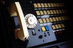 Téléphones de vintage - rétro central téléphonique Images libres de droits