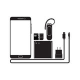 Téléphones et dispositifs intelligents Photos libres de droits