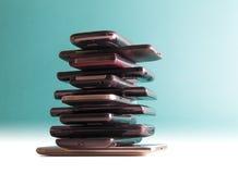 téléphones intelligents d'†d'E-déchets « Photo libre de droits