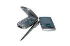 téléphones mobiles de crayon lecteur Image stock