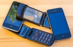 Téléphones portables photographie stock