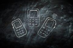 Téléphones portables de communication Photo libre de droits