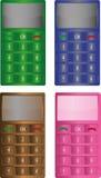 Téléphones simples de Motley Image stock