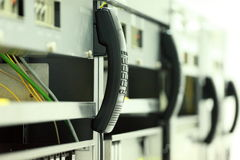 Téléphonez au tube pour le matériel de transmission Photo libre de droits