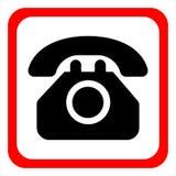 Téléphonez l'icône dans le style plat à la mode d'isolement sur le fond blanc Symbole de téléphone Illustration de vecteur illustration de vecteur