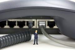 Téléphonie d'IP ou concept de télécommunications image libre de droits