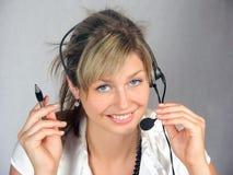 Téléphoniste Photos libres de droits