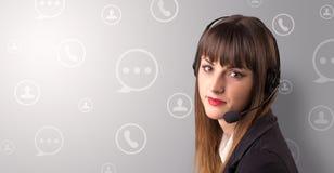 Téléprospecteur femelle Photographie stock libre de droits