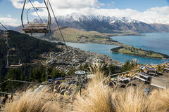 Télésiège de Queenstown Images stock