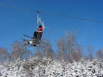 Télésiège de ski image libre de droits
