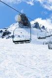 Télésièges d'horaire d'hiver Photos libres de droits