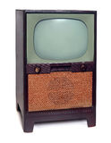 Télévision 1950 du cru TV d'isolement sur le blanc Images libres de droits