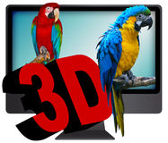 télévision 3D Image stock