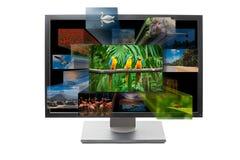 télévision 3d Images libres de droits