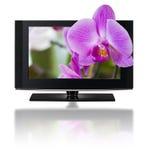 télévision 3D. Affichage à cristaux liquides de TV dans HD 3D. Photographie stock libre de droits