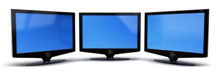 télévision d'écran de TVHD Images libres de droits