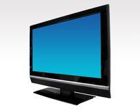 Télévision d'affichage à cristaux liquides photographie stock libre de droits