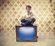 Télévision d'enfant photo stock