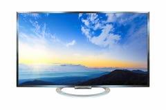 Télévision d'image de lever de soleil d'isolement sur le fond blanc Avec C Photos libres de droits