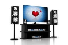 Télévision de composants de home cinéma Photo libre de droits