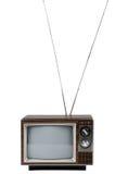 Télévision de cru avec l'antenne photographie stock