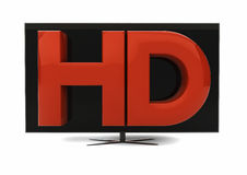 Télévision de HD Photo stock