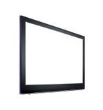 Télévision de HD d'isolement sur le fond blanc Images stock