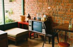 Télévision de vintage Image libre de droits