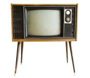 Télévision de vintage d'isolement Photographie stock