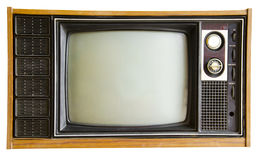 Télévision de vintage d'isolement Image libre de droits
